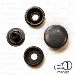 Кнопка 15мм, чёрная без рисунка