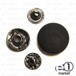 Кнопка декоративная 18мм, чёрная