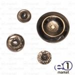 Кнопка декоративная 22мм, чёрная