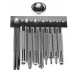 Набор для установки кнопок и заклёпок (11 шт)